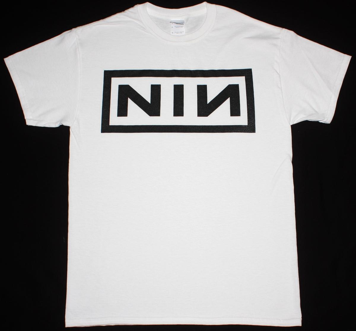 NINE INCH NAILS NIN TRENT REZNOR INDUSTRIAL LOGO NEW WHITE T-SHIRT ...