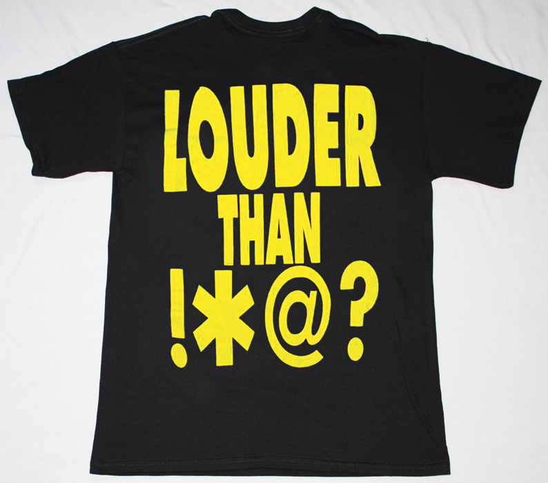 SOUNDGARDEN LOUDER THAN LOVE 1989   NEW BLACK T-SHIRT