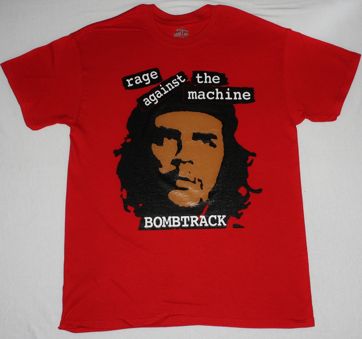 RAGE AGAINST THE MACHINE BOMBTRACK NEW RED T-SHIRT