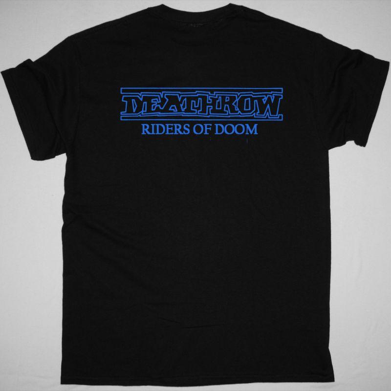 DEATHROW RIDERS OF DOOM 1986 NEW BLACK T-SHIRT