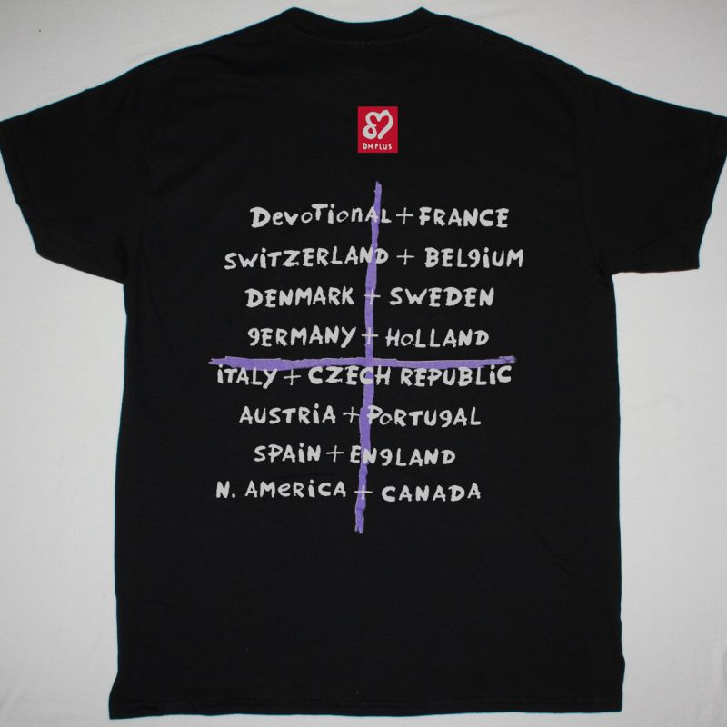 DEPECHE MODE DEVOTIONAL TOUR NEW BLACK T-SHIRT