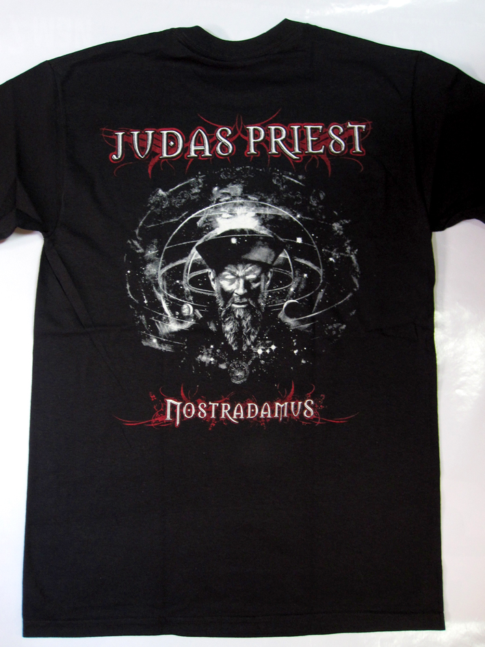JUDAS PRIEST NOSTRADAMUS NEW BLACK T-SHIRT