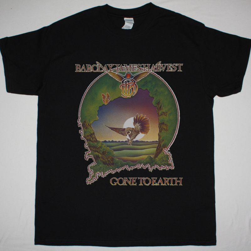 BARCLAY JAMES HARVEST GONE TO EARTH NEW BLACK T-SHIRT