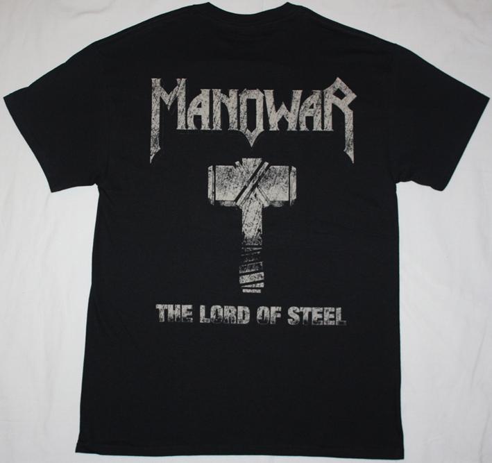 MANOWAR THE LORD OF STEEL HAMMER NEW BLACK T-SHIRT