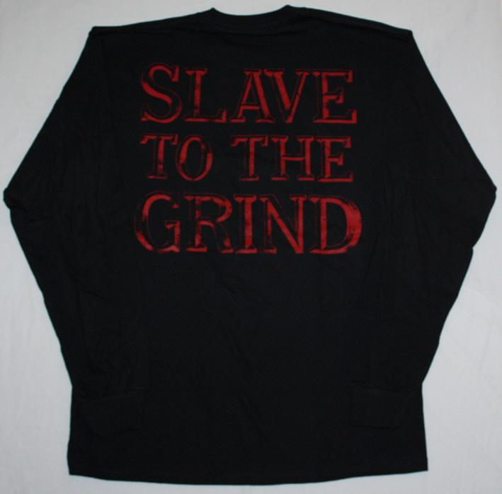 SKID ROW SLAVE TO THE GRIND '91 NEW BLACK LONG SLEEVE T-SHIRT