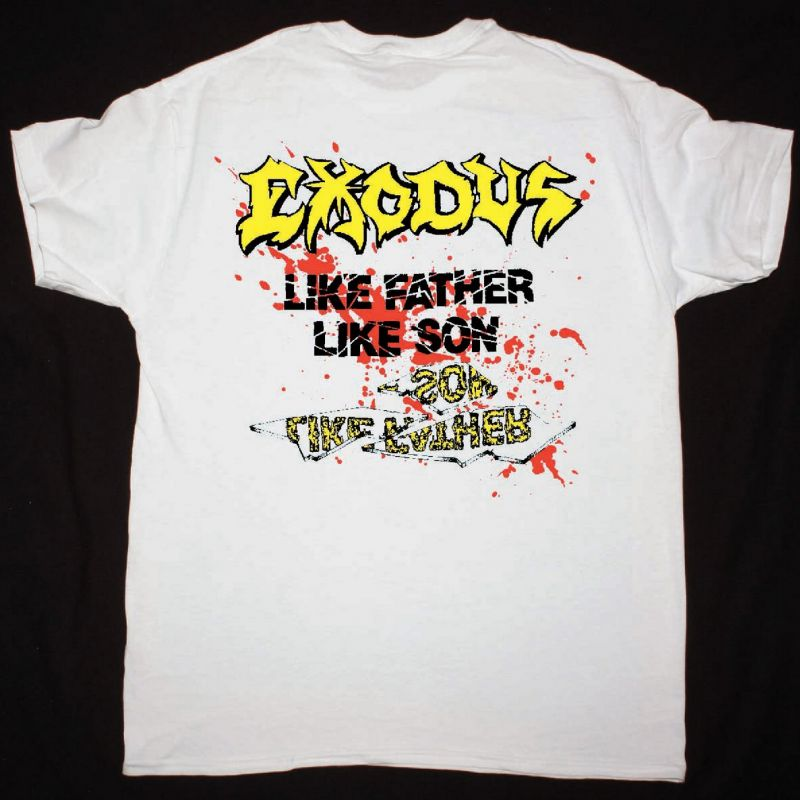EXODUS SPITTING IMAGE OF A MAN IN HELL NEW WHITE T SHIRT
