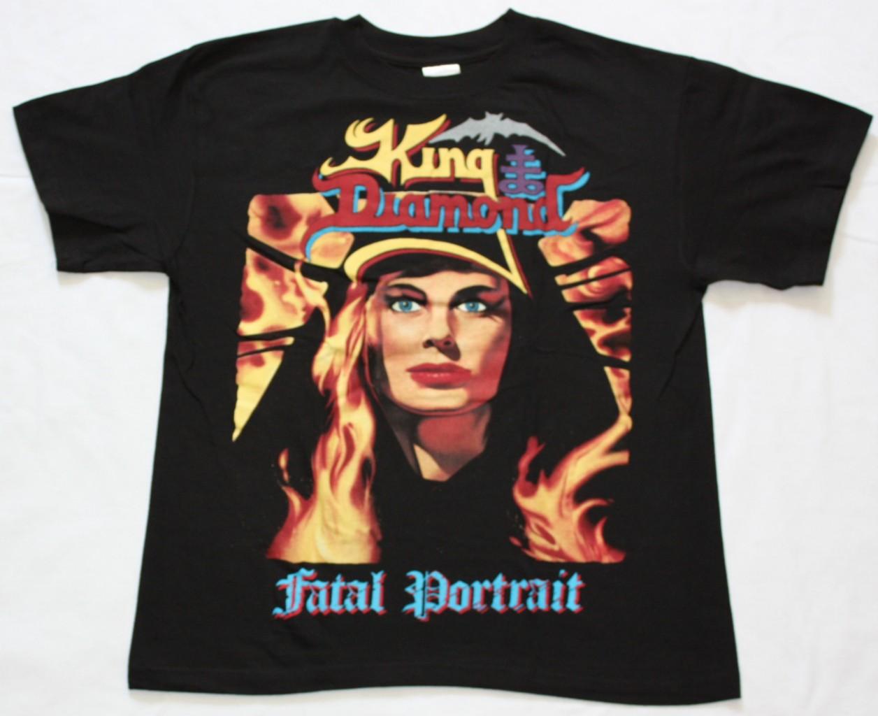 KING DIAMOND FATAL PORTRAIT'86 NEW BLACK T-SHIRT