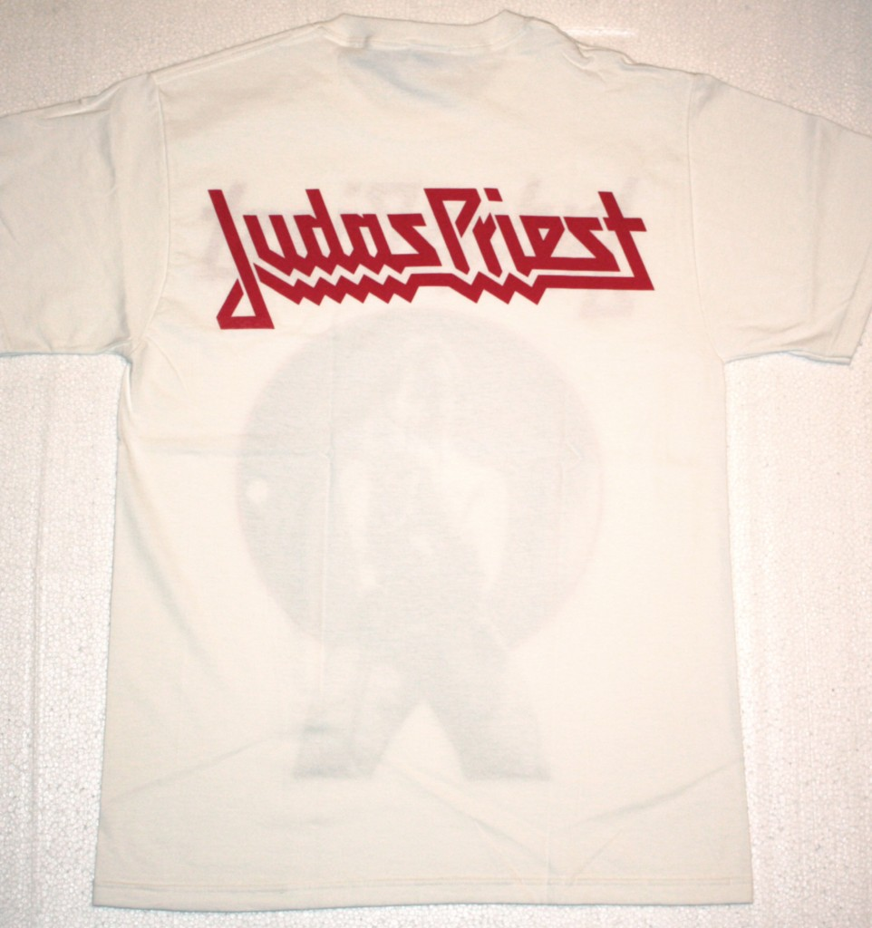 JUDAS PRIEST ROB HALFORD WHITE NEW T-SHIRT