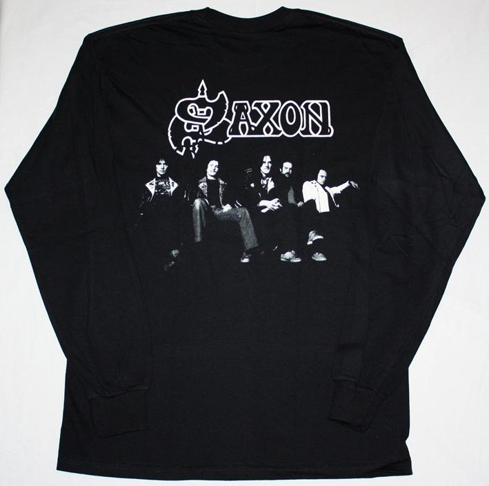 SAXON WHEELS OF STEEL '80 S-XXL NEW BLACK LONG SLEEVE T-SHIRT