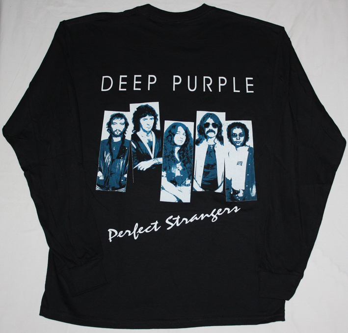 DEEP PURPLE PERFECT STRANGERS'84 NEW LONG SLEEVE BLACK T-SHIRT