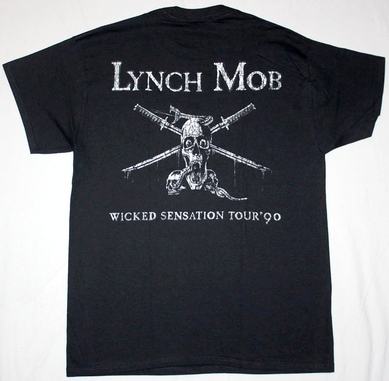 LYNCH MOB WICKED SENSATION '90  NEW BLACK T-SHIRT