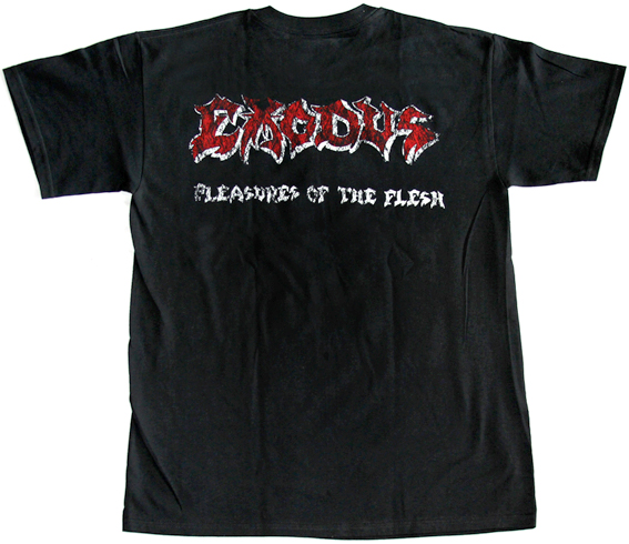 EXODUS PLEASURES OF THE FLESH '87 NEW BLACK RARE T-SHIRT
