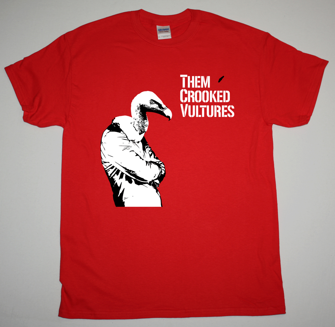 THEM CROOKED VULTURES BIRDMAN NEW RED T-SHIRT