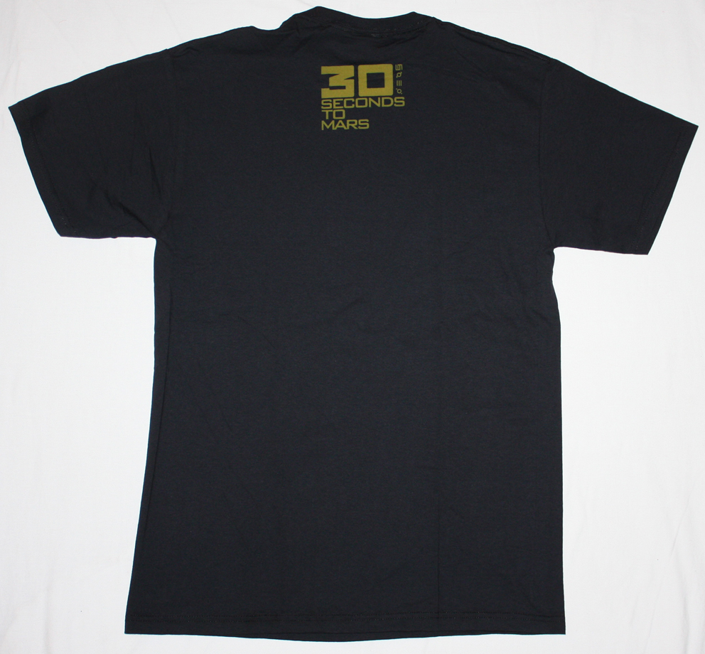 30 SECONDS TO MARS BAND NEW BLACK T-SHIRT