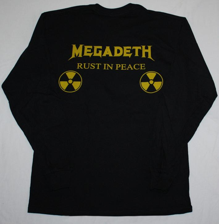MEGADETH RUST IN PEACE'90  S-XXL LONG SLEEVE T-SHIRT