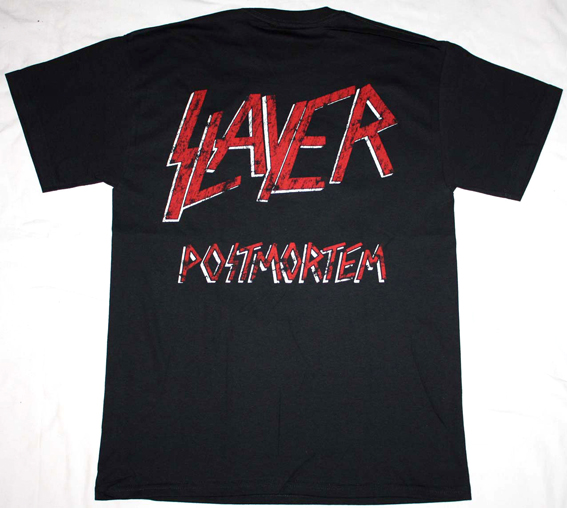 SLAYER POST MORTEM '86  NEW BLACK T-SHIRT