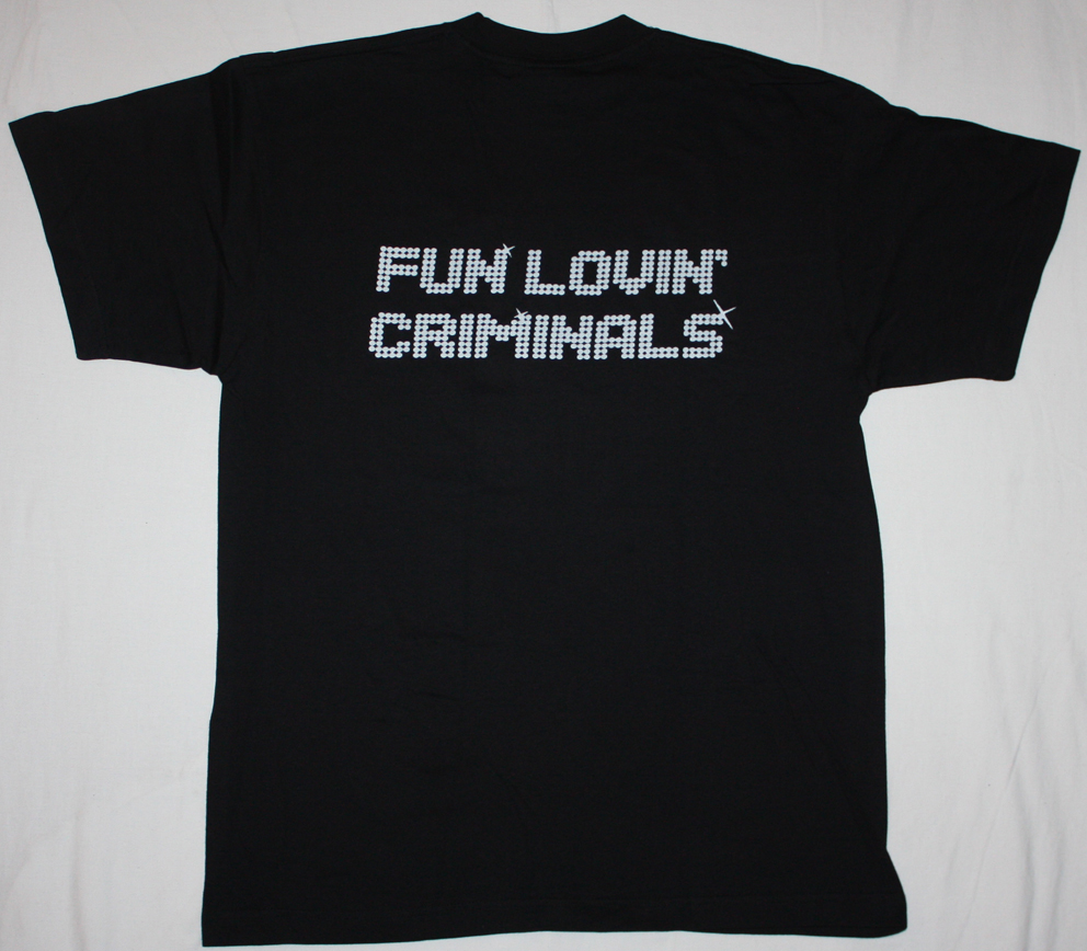 FUN LOVIN' CRIMINALS BAND NEW BLACK T-SHIRT