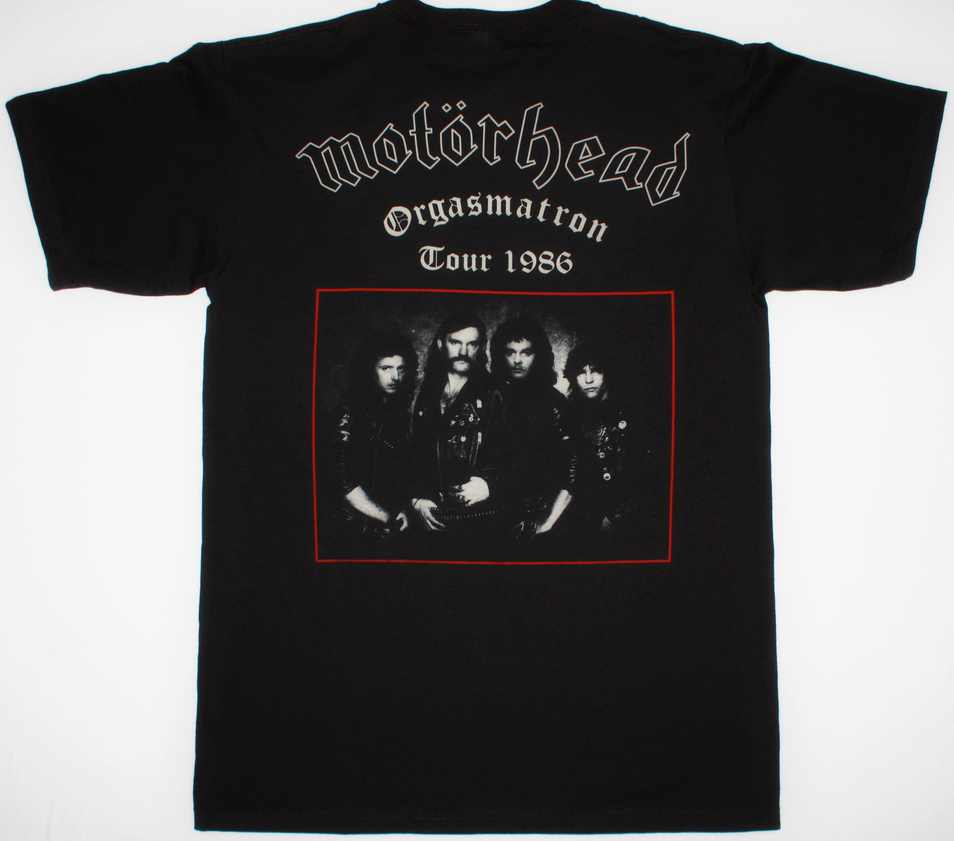 MOTORHEAD ORGASMATRON TOUR 1986 NEW BLACK T-SHIRT
