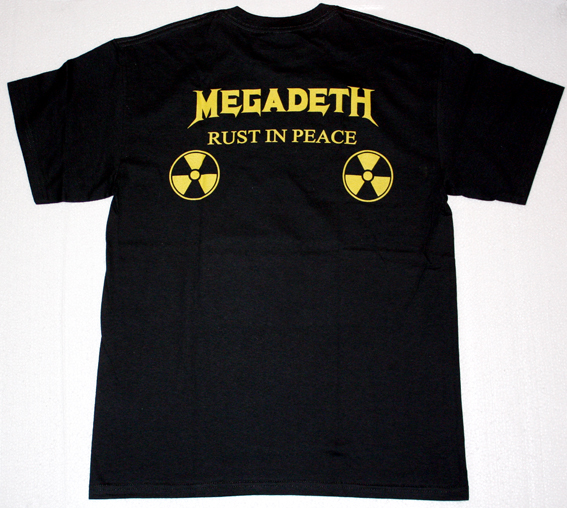 MEGADETH RUST IN PEACE'90  NEW BLACK T-SHIRT