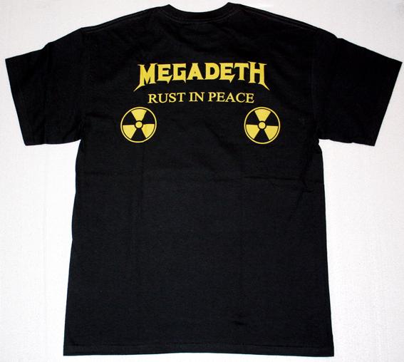 MEGADETH RUST IN PEACE'90  NEW BLACK T-SHIRT