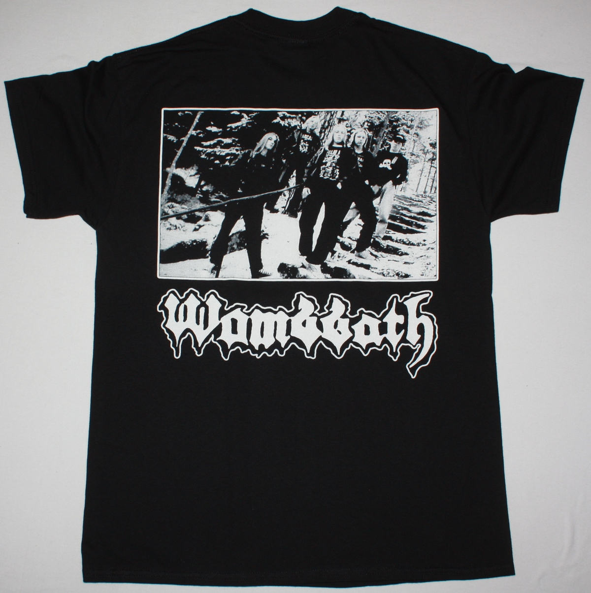WOMBBATH INTERNAL CAUSTIC TORMENTS NEW BLACK T-SHIRT