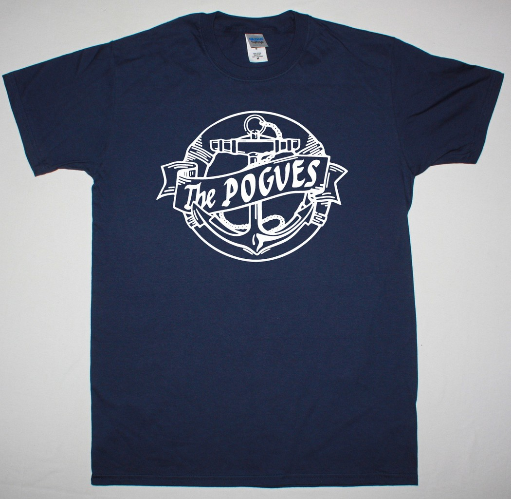 THE POGUES ANCHOR NEW NAVY T-SHIRT