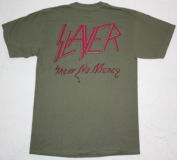 SLAYER SHOW NO MERCY NEW MILITARY T-SHIRT