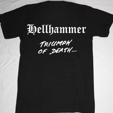 HELLHAMMER TRIUMPH OF DEATH'83 NEW BLACK T-SHIRT