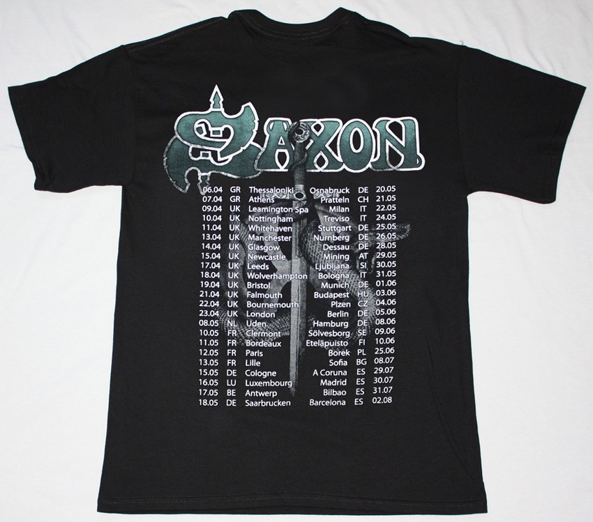 SAXON CALL TO ARMS WORLD TOUR 2011 NEW BLACK T-SHIRT