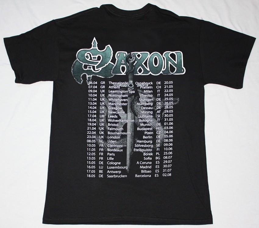 SAXON CALL TO ARMS WORLD TOUR 2011 NEW BLACK T-SHIRT