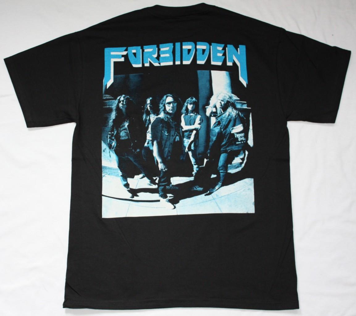 FORBIDDEN FORBIDDEN EVIL'88 NEW BLACK T-SHIRT
