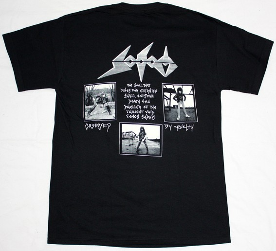 SODOM OBSESSED BY CRUELTY'86  NEW BLACK T-SHIRT