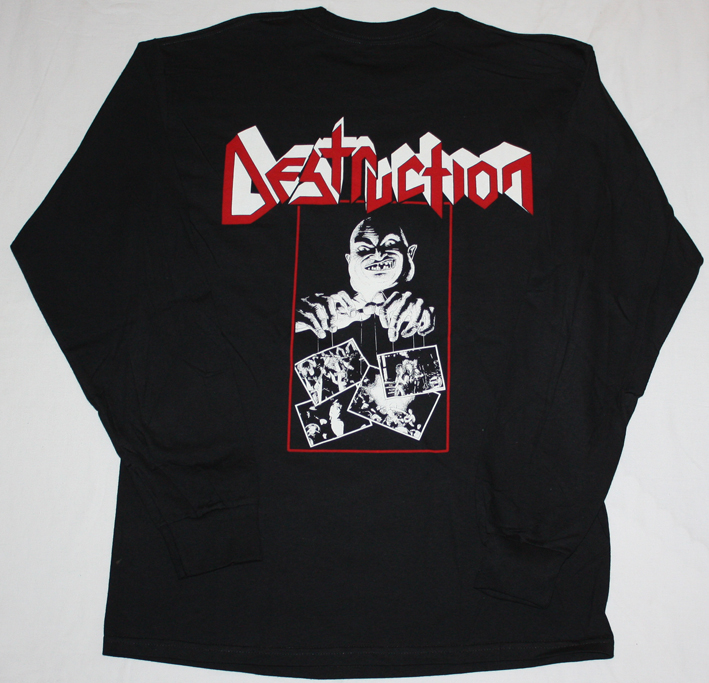 DESTRUCTION LIVE WITHOUT SENSE'89  BLACK LONG SLEEVE T-SHIRT