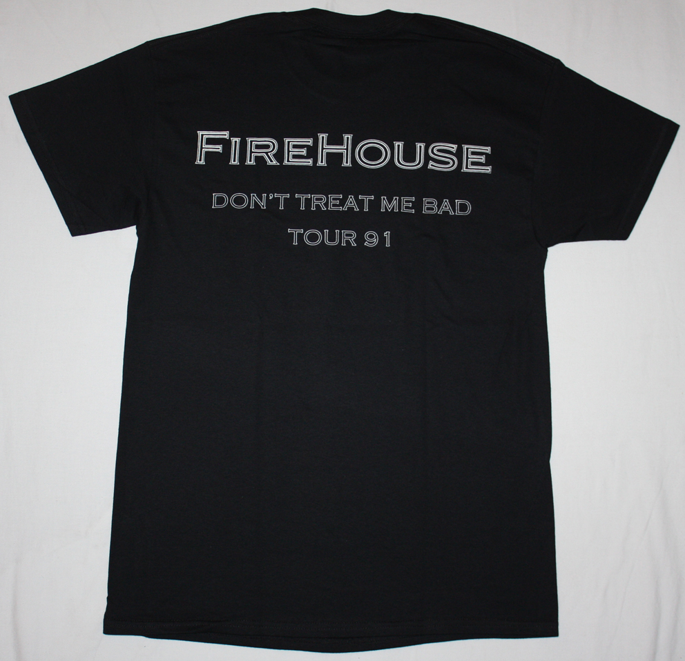 FIREHOUSE FIREHOUSE'90 NEW BLACK T-SHIRT