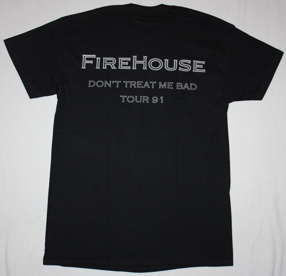 FIREHOUSE FIREHOUSE'90 NEW BLACK T-SHIRT