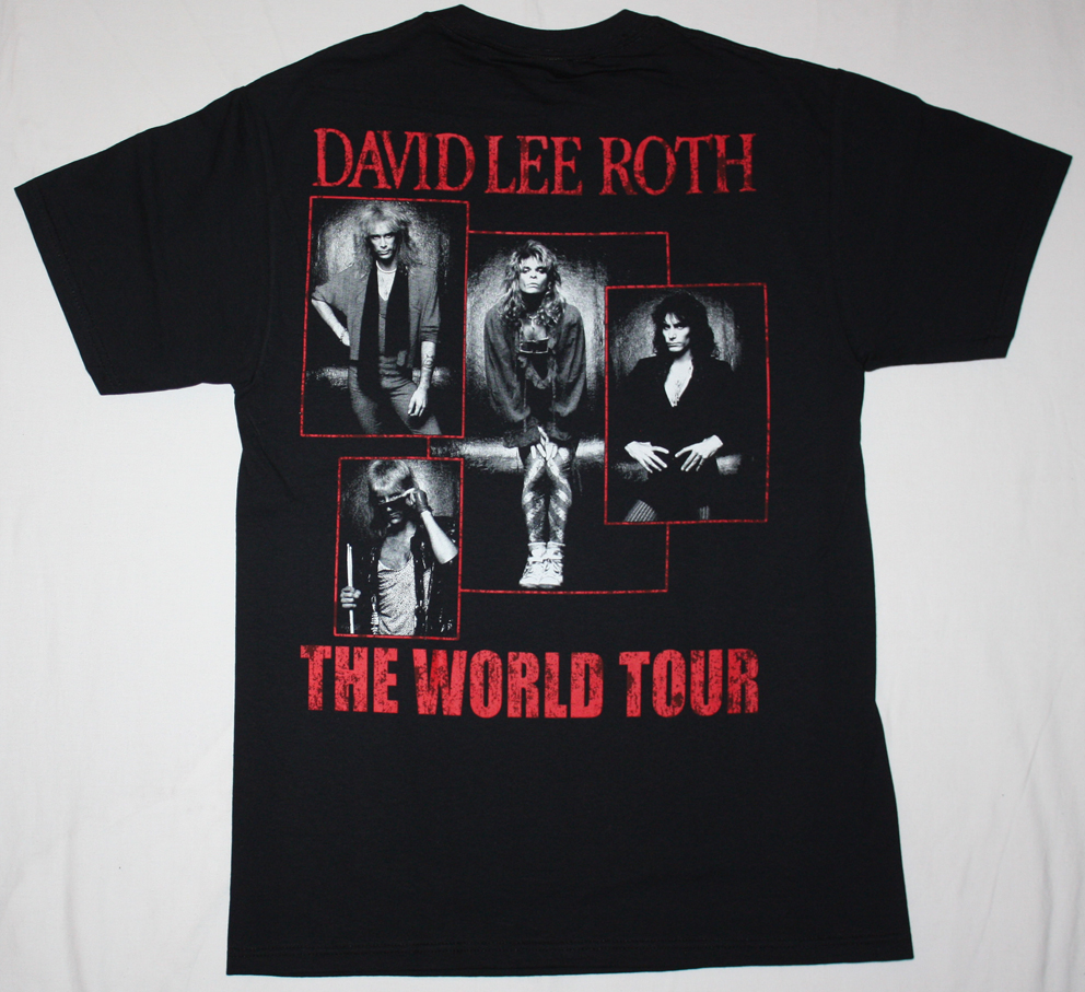 DAVID LEE ROTH EAT'EM AND SMILE NEW BLACK T-SHIRT