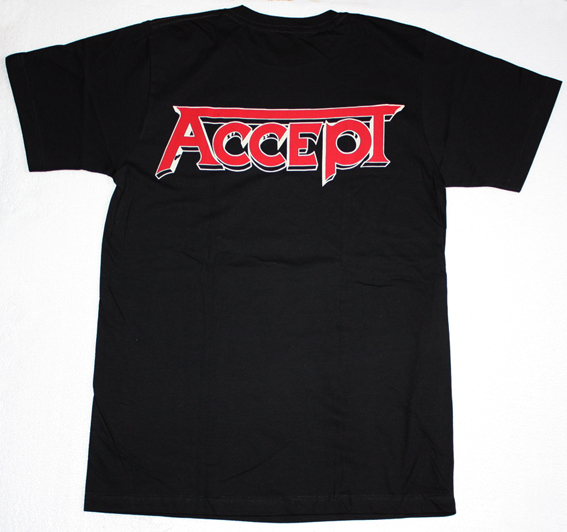 ACCEPT RUSSIAN ROULETTE'86  NEW BLACK T-SHIRT