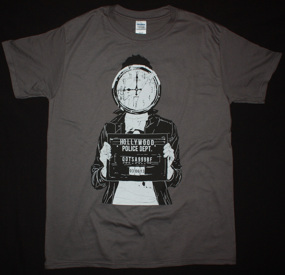 QUEENS OF THE STONE AGE MUGSHOT NEW GREY T-SHIRT