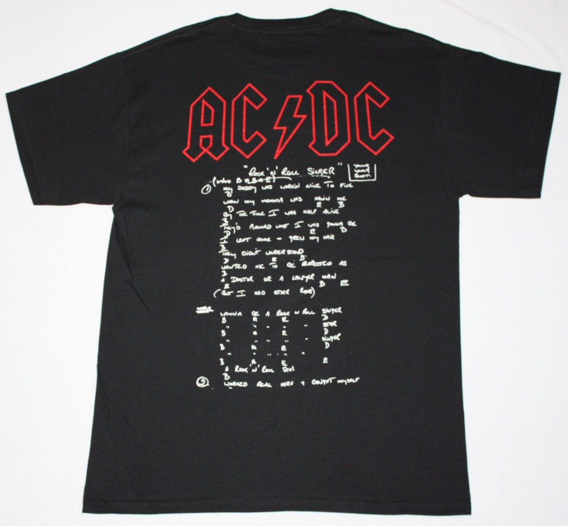 AC DC BON SCOTT IF YOU WANT BLOOD AC/DC NEW BLACK T-SHIRT