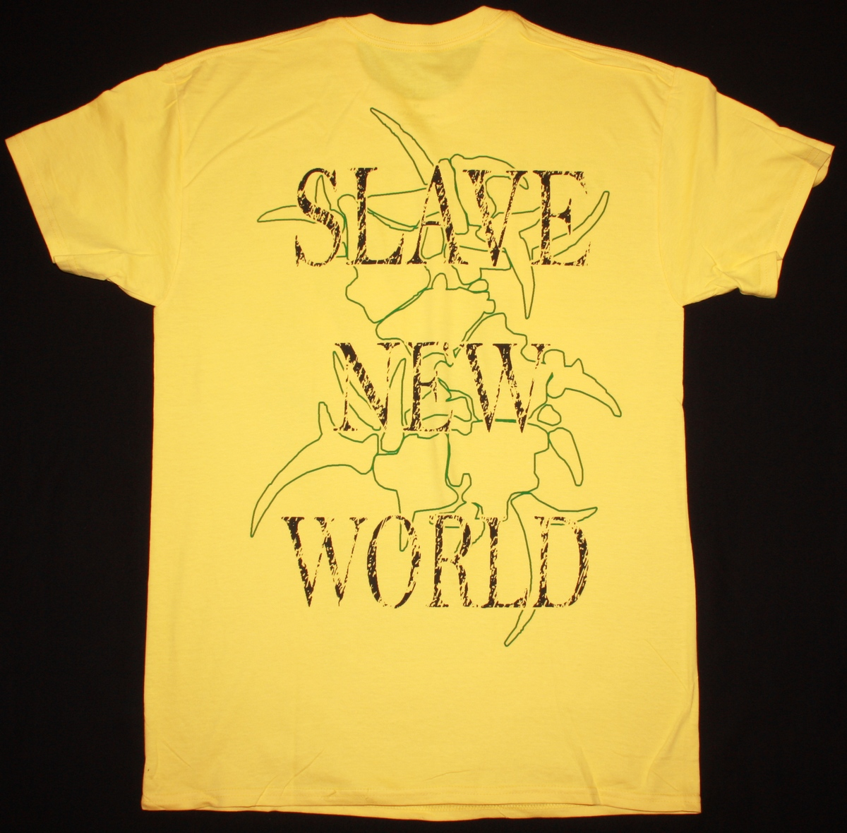 SEPULTURA SLAVE NEW WORLD'93 NEW YELLOW T-SHIRT