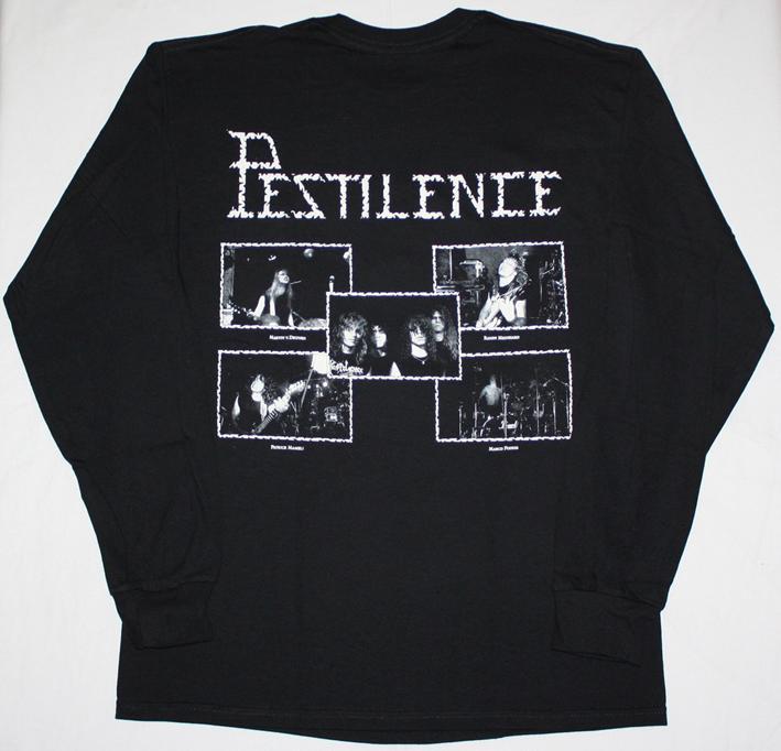 PESTILENCE MALLEUS MALEFICARUM'88 NEW BLACK LONG SLEEVE T-SHIRT