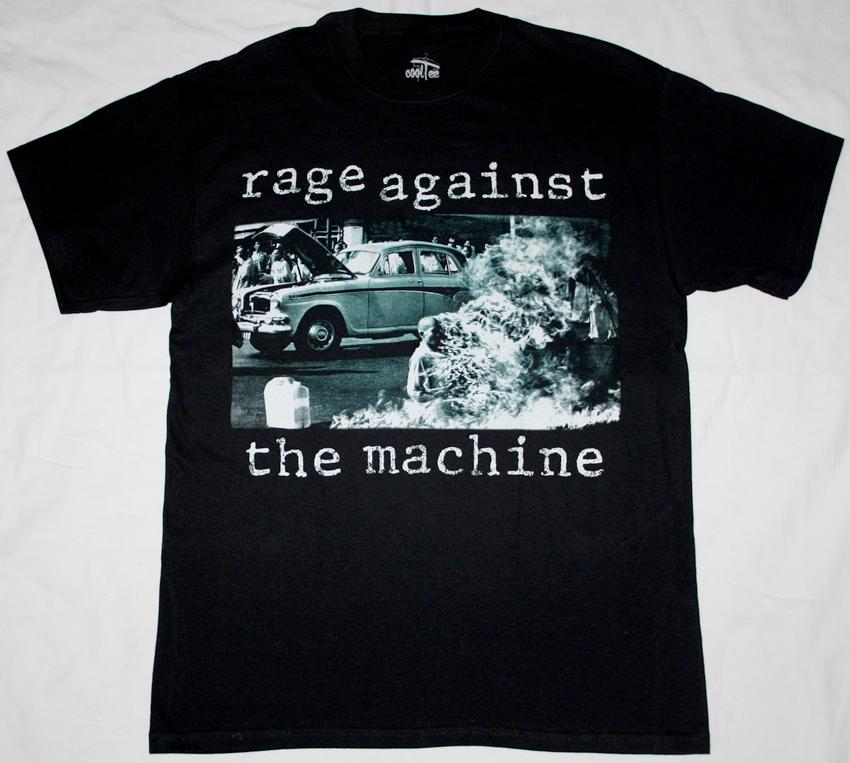 RAGE AGAINST THE MACHINE RATM'92 NEW BLACK T-SHIRT