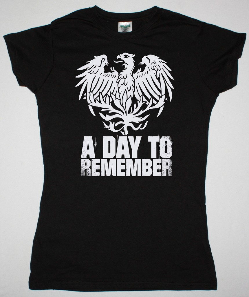 A DAY TO REMEMBER EAGLE NEW BLACK LADY T-SHIRT - Best Rock T-shirts