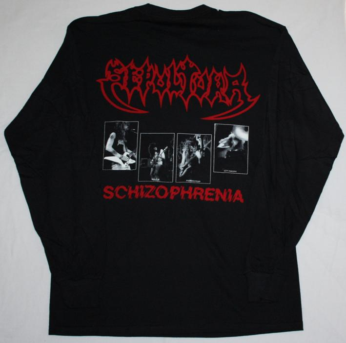 Sepultura schizophrenia 39 87 soulfly cavalera conspiracy s for Xxl long sleeve t shirts