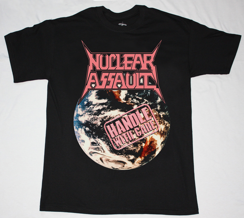 NUCLEAR ASSAULT HANDLE WITH CARE'89 NEW BLACK T-SHIRT