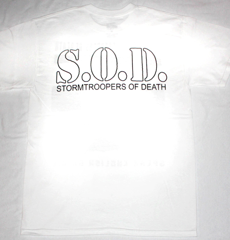 S.O.D. STORMTROOPERS OF DEATH'85  WHITE NEW T-SHIRT