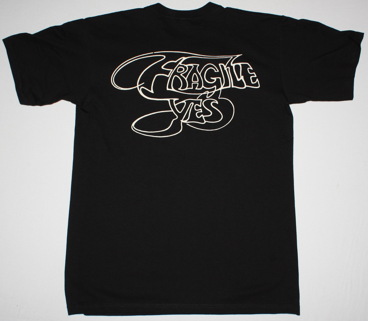 YES FRAGILE '71 NEW BLACK T-SHIRT