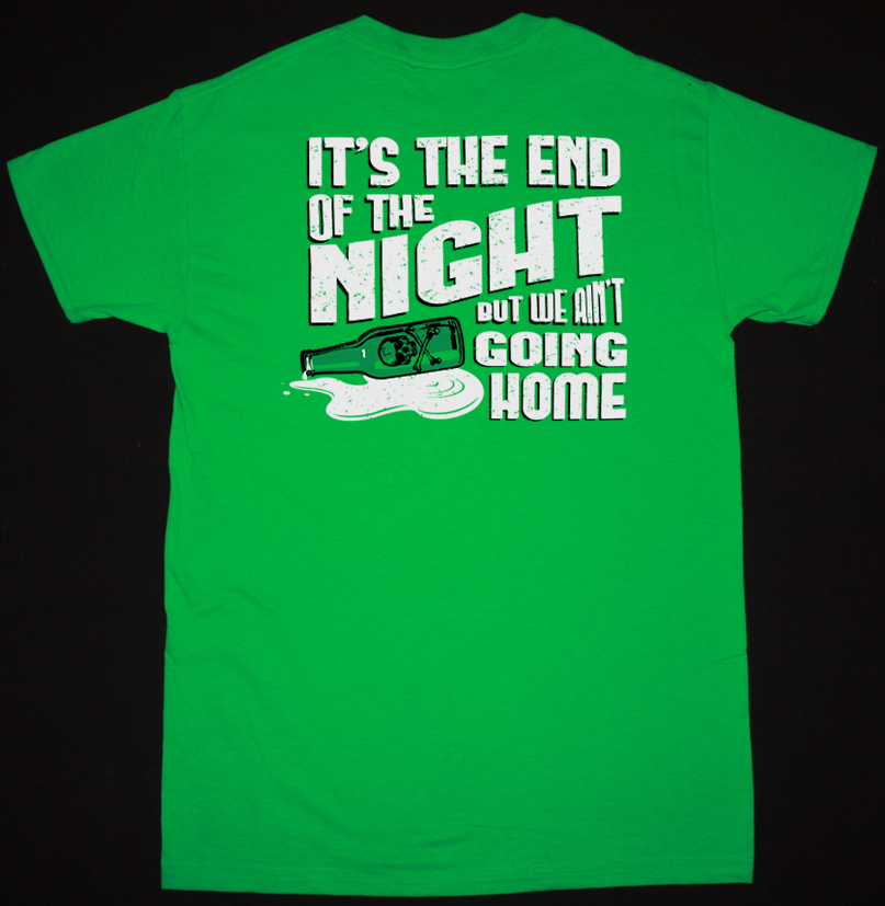 DROPKICK MURPHYS END OF THE NIGHT GREEN T-SHIRT