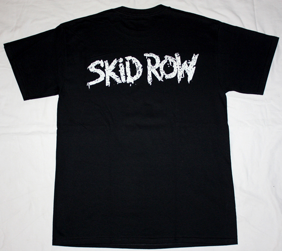 SKID ROW BAND  NEW BLACK T-SHIRT