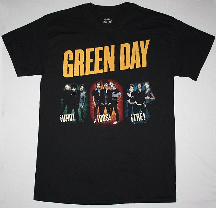 Green Day Band Photo American Idiot Offspring New Black T